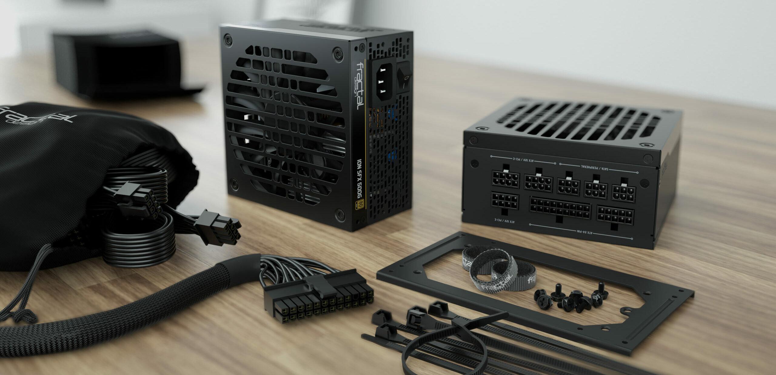 Ion 500/650 watts : Fractal Design dévoile ses alimentations SFX-L modulaires et semi-passives