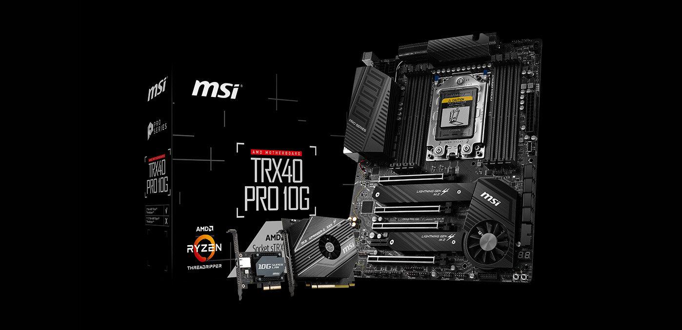 Cartes mères TRX40 : trois modèles MSI référencés, à partir de 460 euros