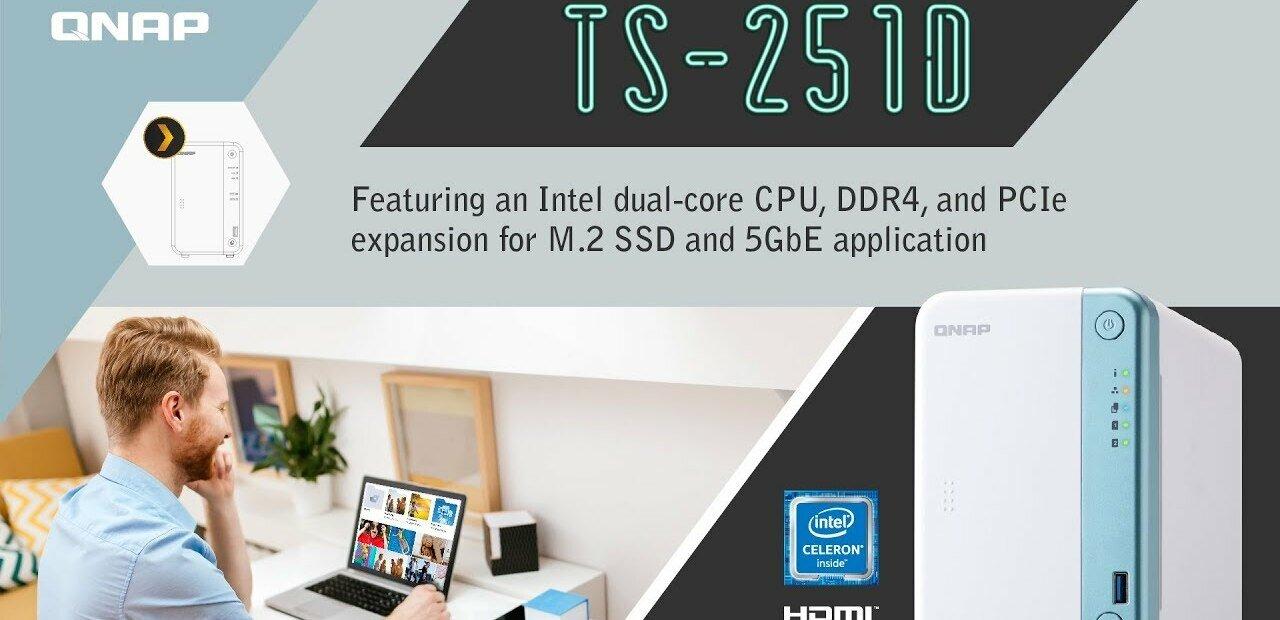 QNAP officialise son NAS TS-251D avec port PCIe x4 et des cartes réseau à 5 Gb/s (QXG-5G)
