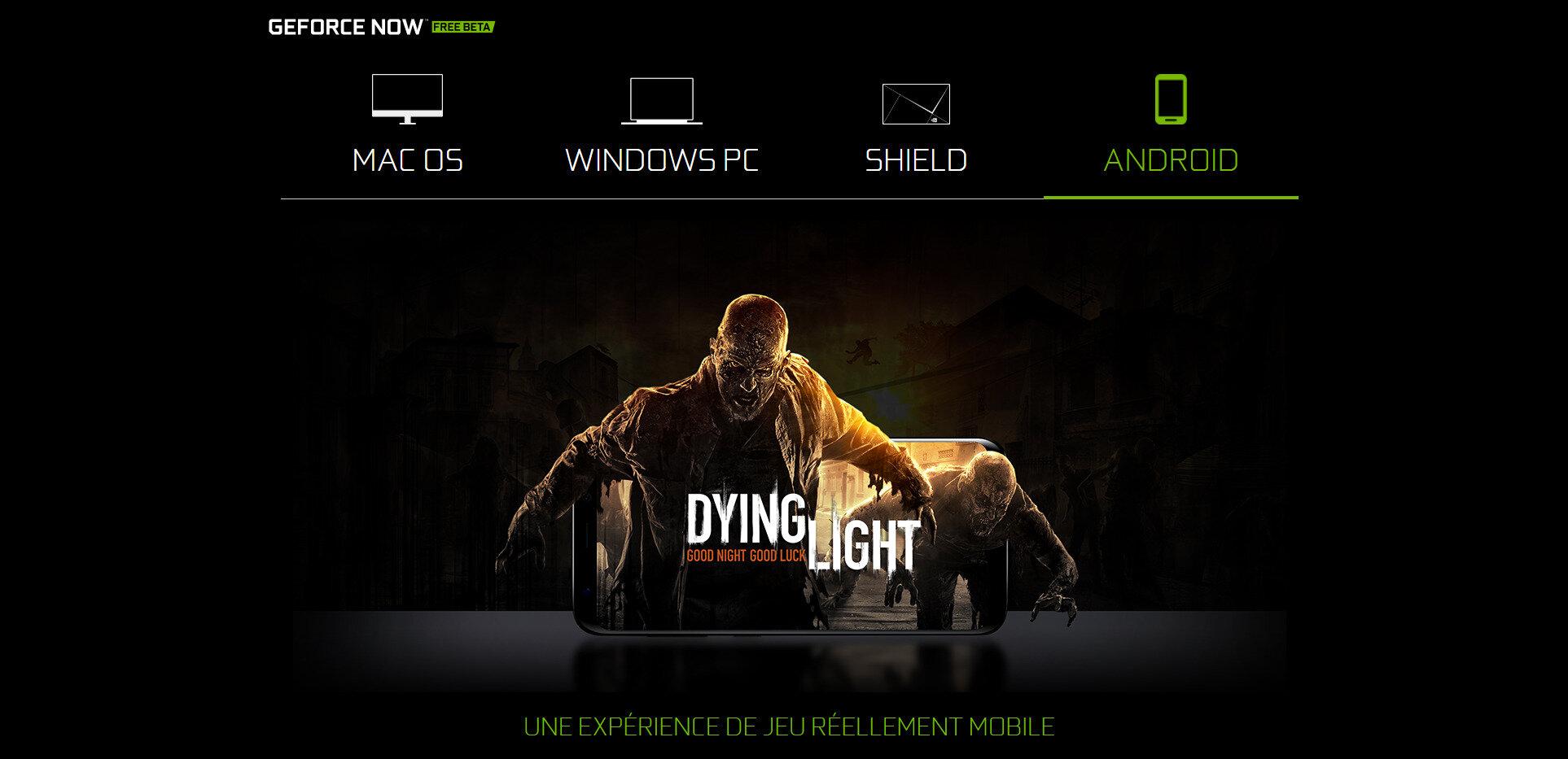 GeForce Now disponible sur Android, bientôt un lancement commercial ?