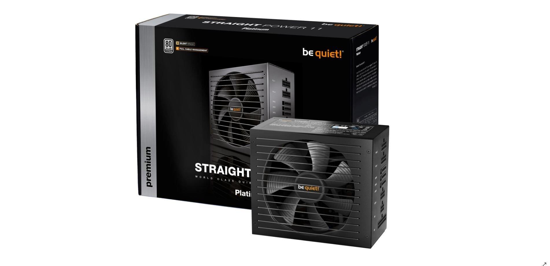 Alimentations Straight Power 11 : be quiet! passe au 80 Plus Platinum, plus silencieux