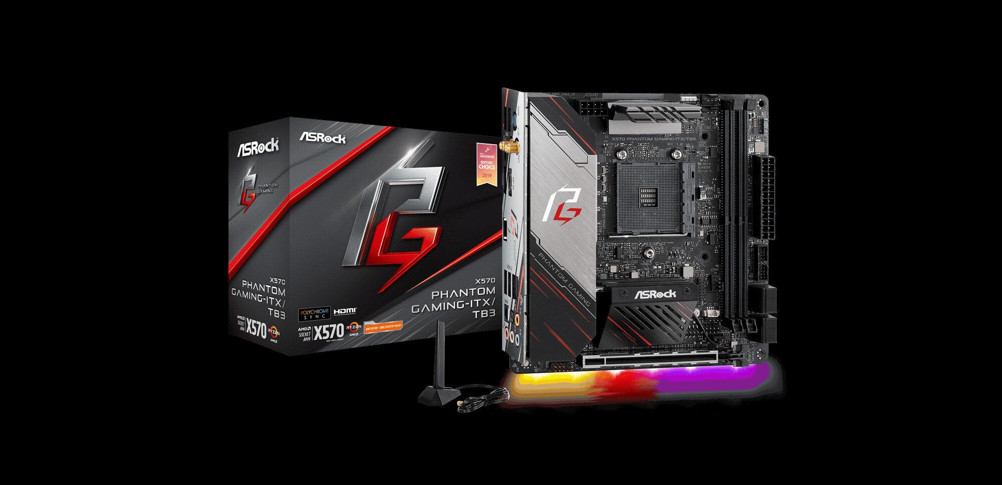 X570 Phantom Gaming-ITX/TB3 d'ASRock : une carte mère pour AMD avec certification Thunderbolt 3