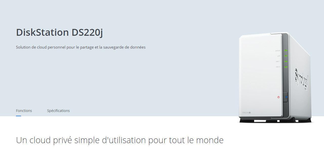 Synology annonce son DS220j à 170 euros : un DS218play avec 512 Mo de mémoire, sans transcodage