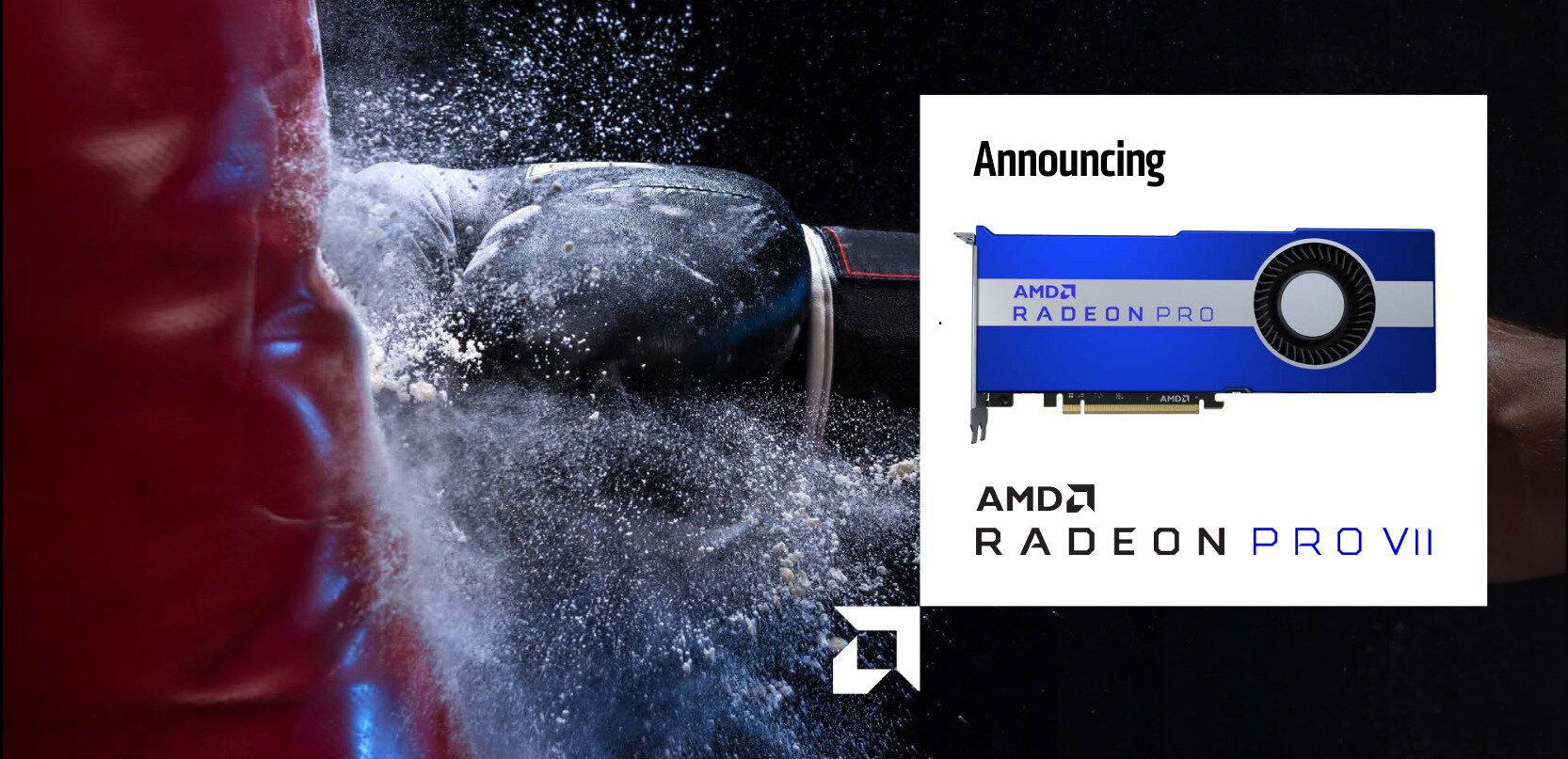 AMD annonce sa Radeon Pro VII (Vega 20, PCIe 4.0), ses pilotes 20.Q2 et ProRender 2.0