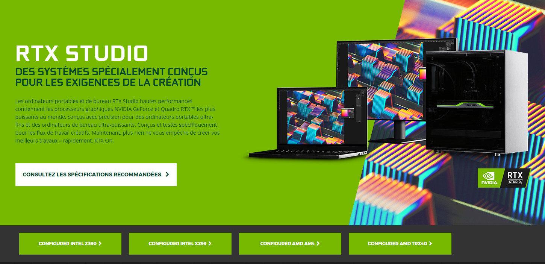 PCSpecialist se met aux serveurs rackables configurables et aux PC RTX Studio (AMD ou Intel)