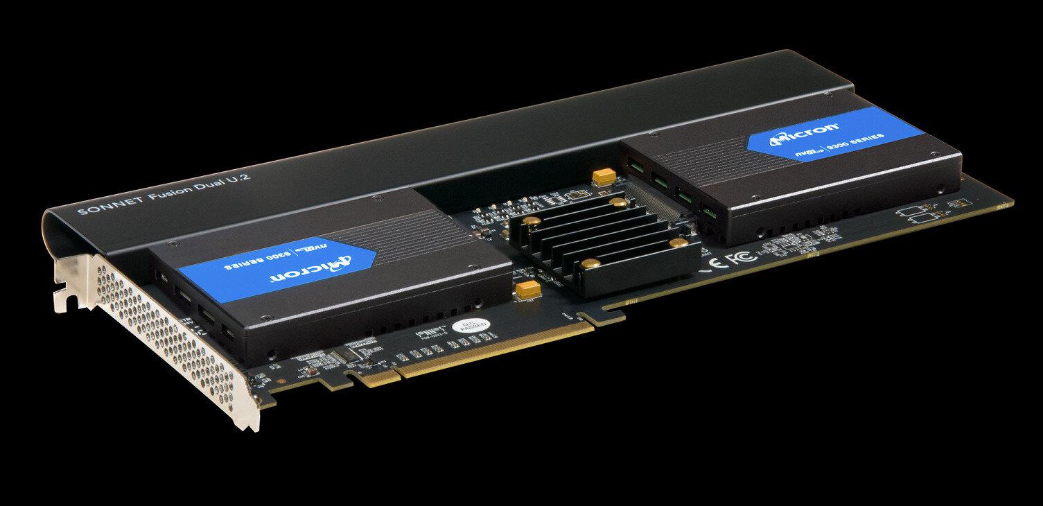 Sonnet Fusion Dual U.2 : deux emplacements pour SSD U.2 dans une carte PCIe x16