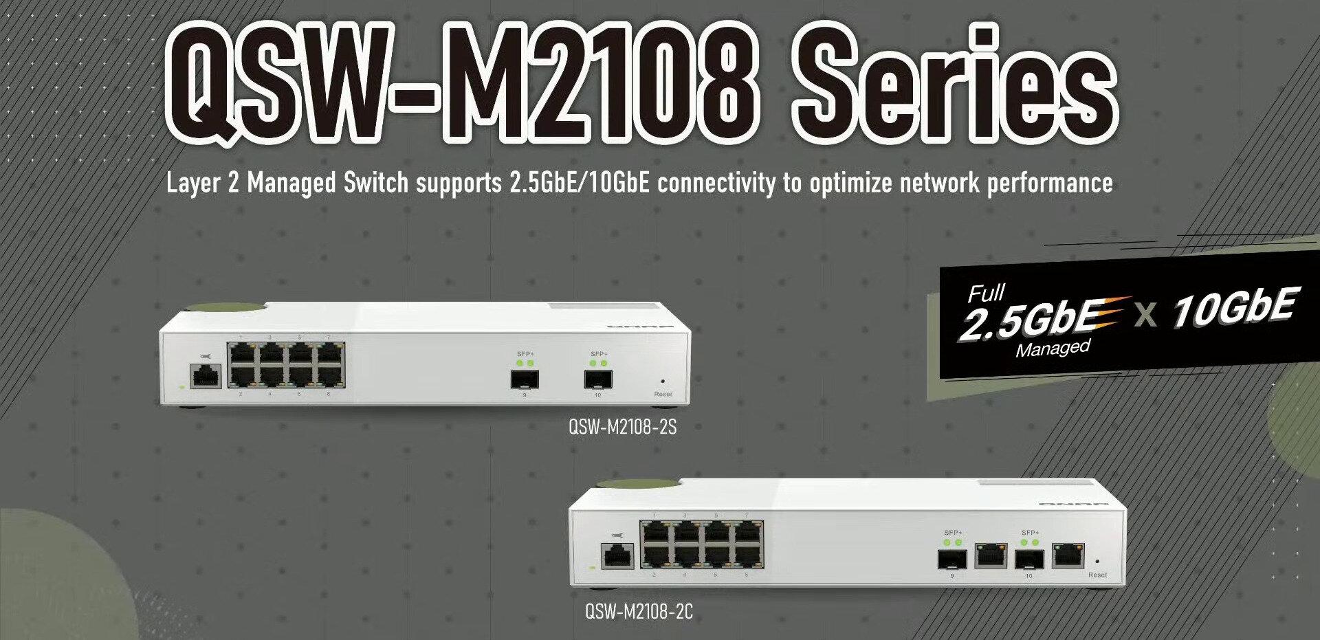 QSW-M2108 : QNAP dévoile son switch 8x 2,5 Gb/s + 2x 10 Gb/s, manageable (L2)