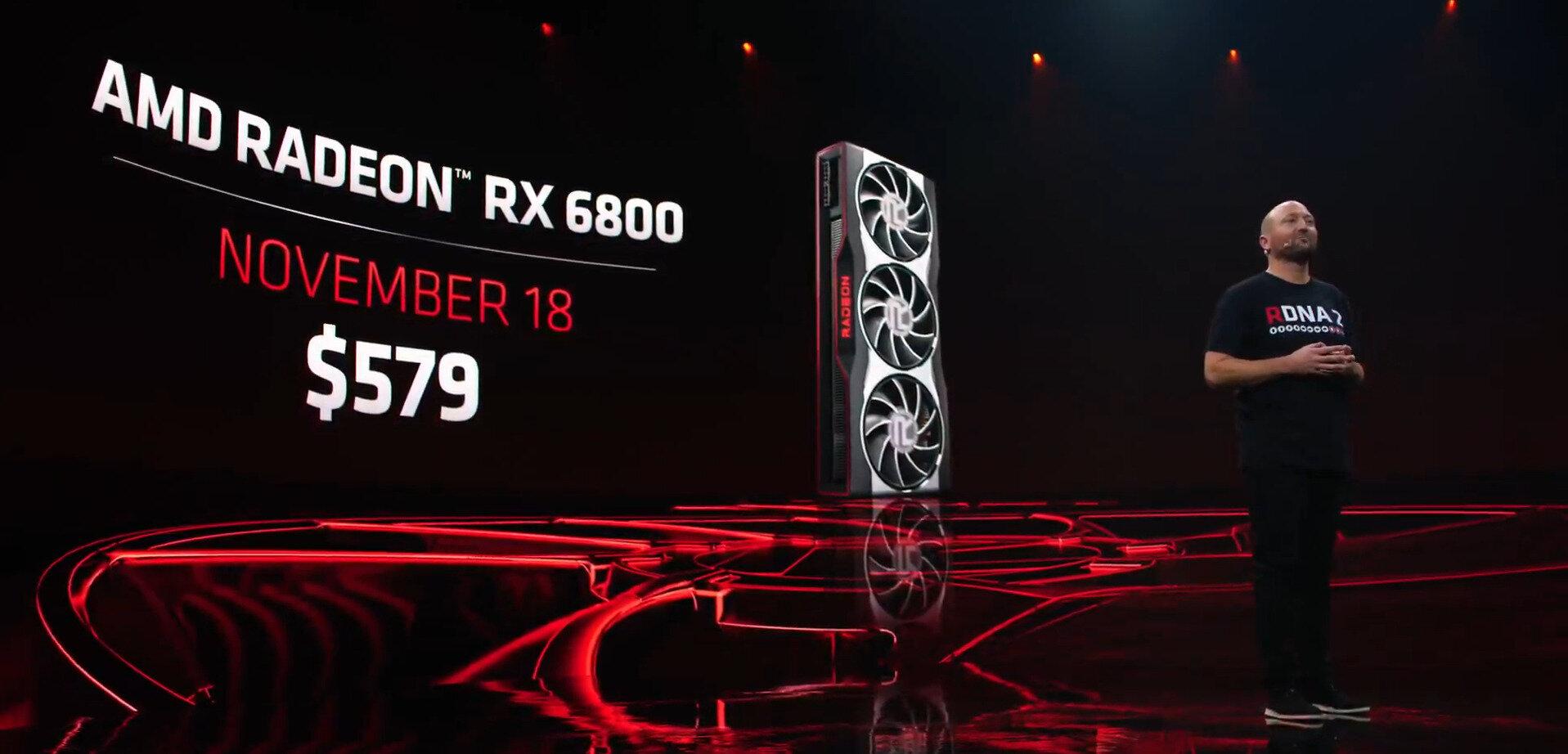 Radeon RX 6800 (XT) : détails de l'architecture, disponibilité et Smart Access Memory