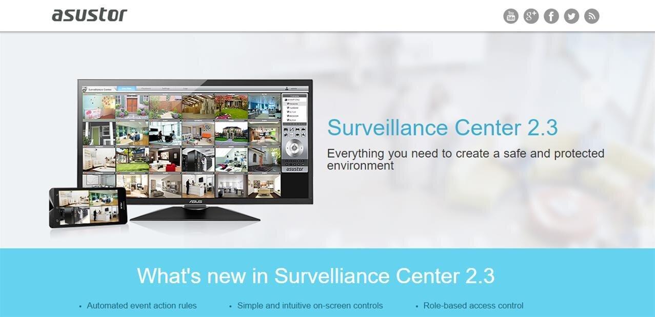 Vidéosurveillance : Asustor lance son application Surveillance Center 2.3