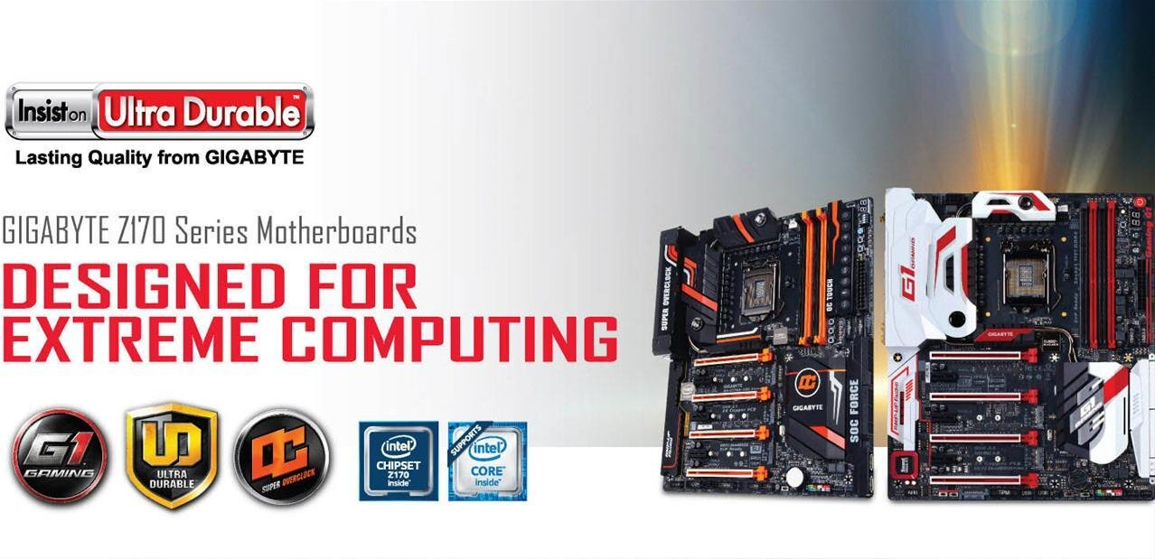 Cartes mères Z170 Gigabyte : M.2, SATA Express, USB 3.1, connecteur Type-C et DDR3
