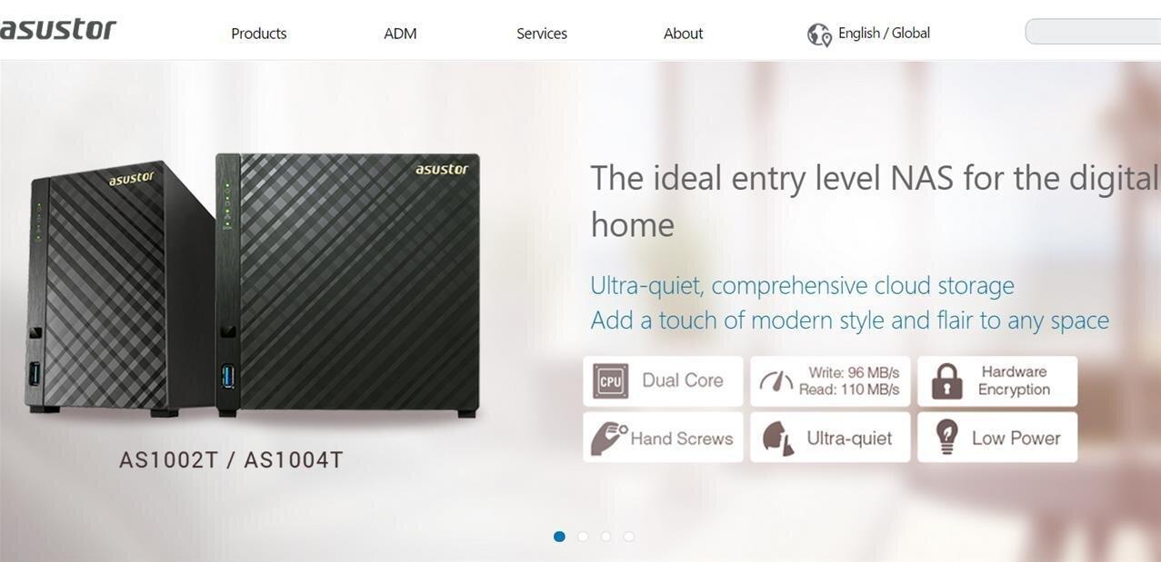NAS Asustor série 10 : SoC ARM et chiffrement des données, à partir de 169 euros