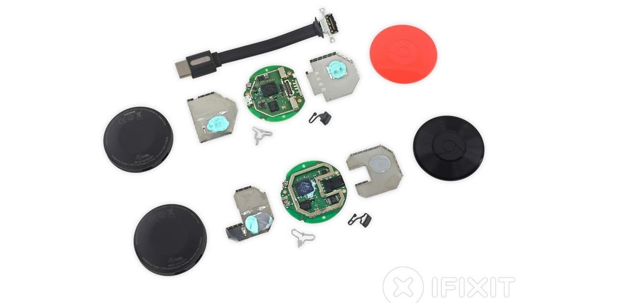 iFixit démonte les deux nouveaux Chromecast, sans leur donner de note