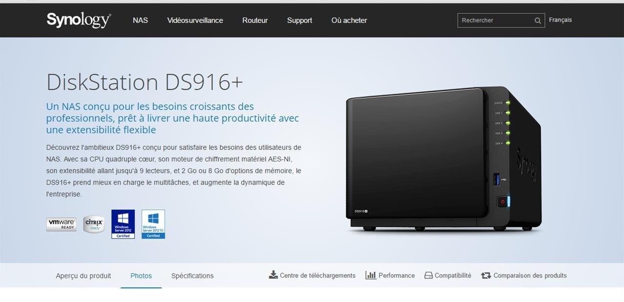 Synology lance deux nouveaux NAS : les DS116 et DS916+