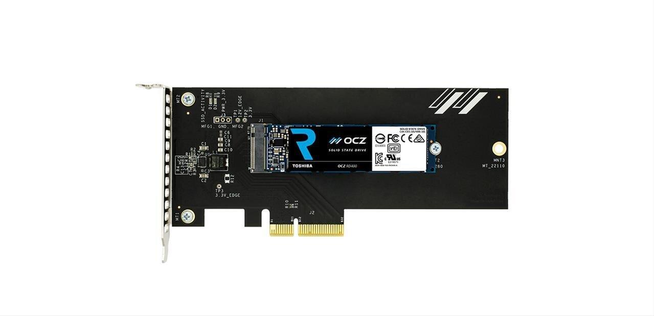 OCZ RD400 : des SSD M.2 NVMe capable de grimper jusqu'à 2,6 Go/s