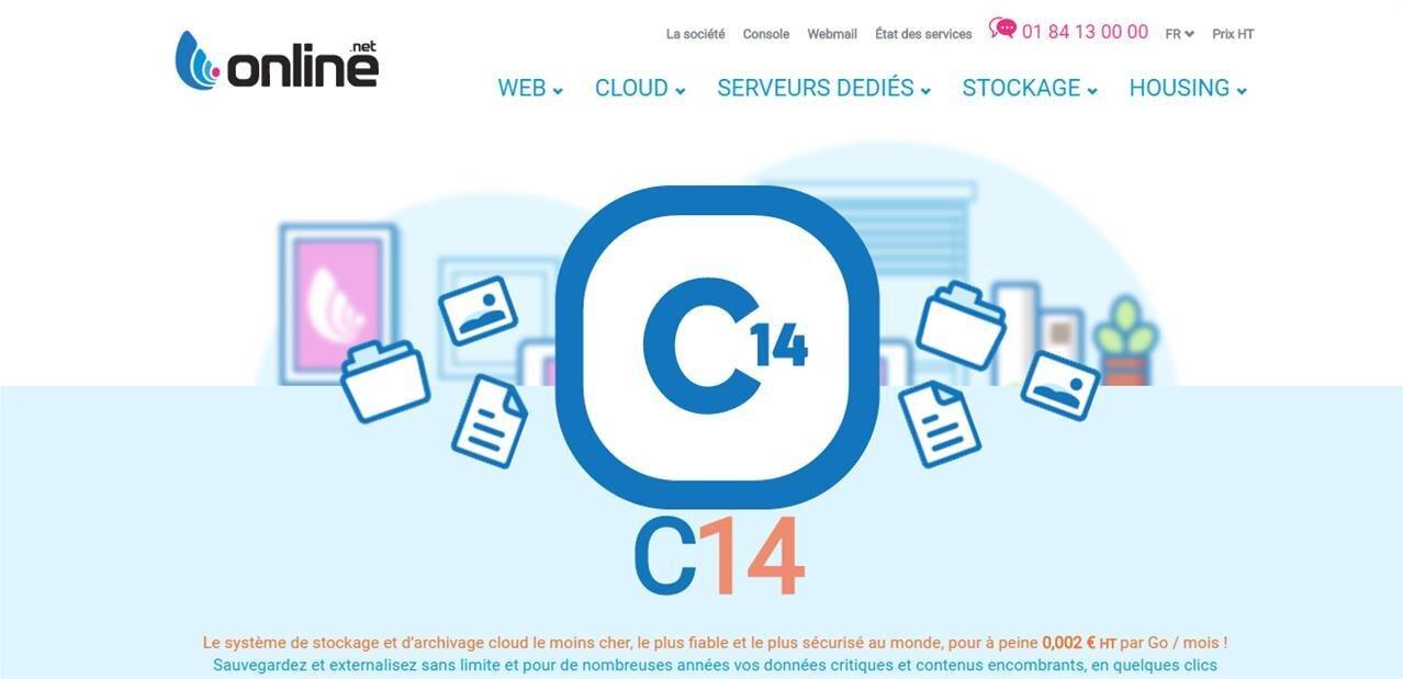 Online C14 : de l'archivage dès 0,002 € HT par Go, certifié pour des données sensibles