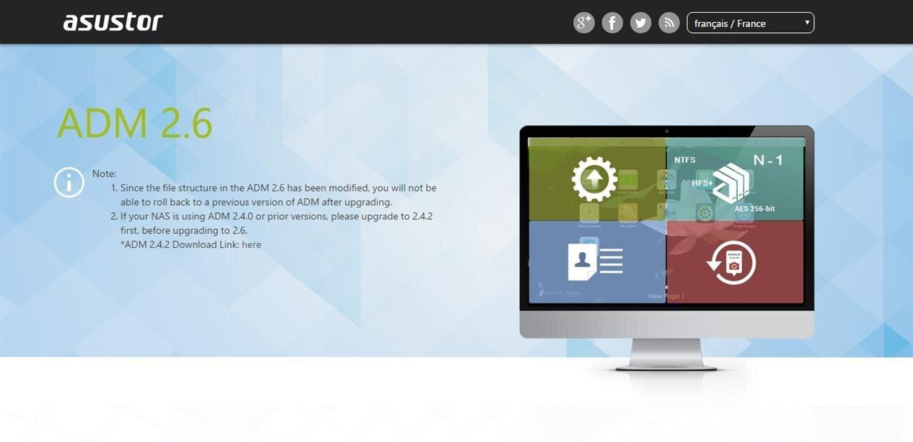 NAS Asustor : correctifs de sécurité et authentification en deux étapes avec l'ADM 2.6.3