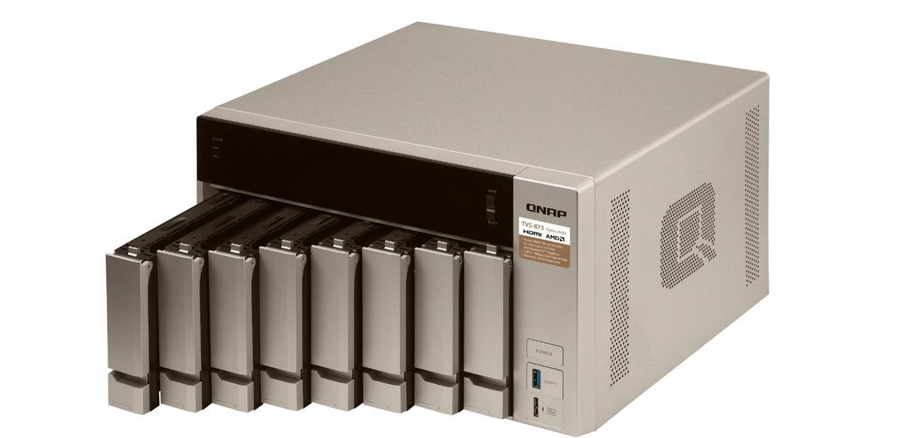 QNAP lance ses NAS TVS-x73 avec un SoC AMD « Merlin Falcon »