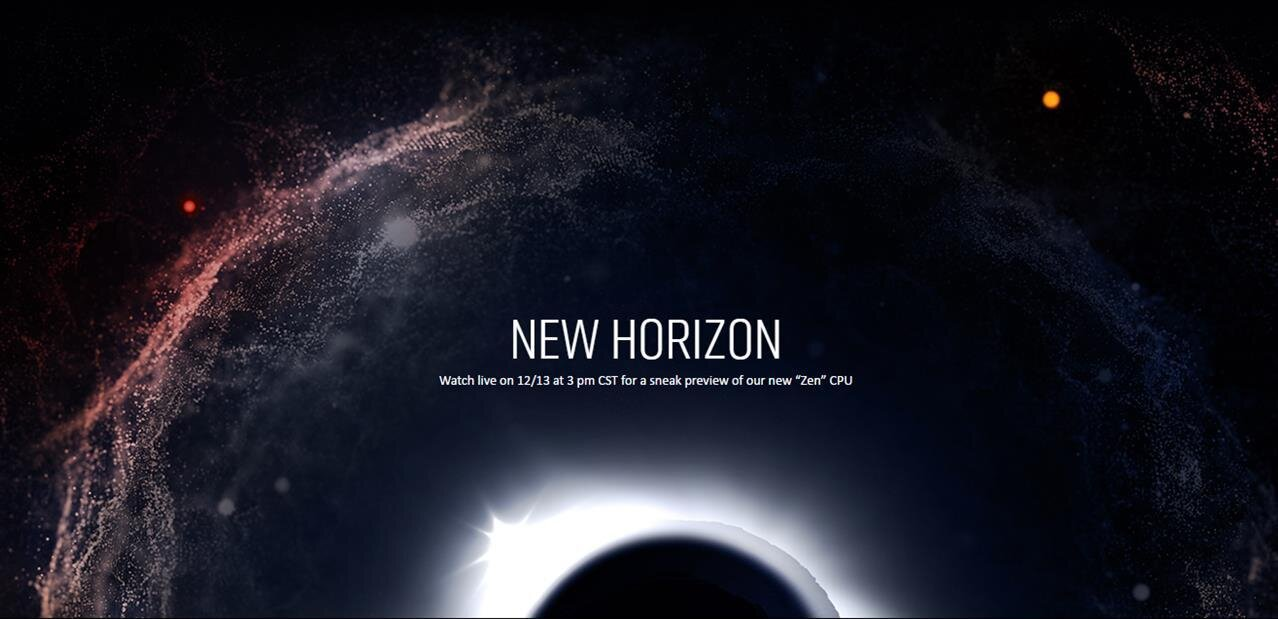 New Horizon : AMD promet une démonstration de Summit Ridge (Zen) pour le 13 décembre