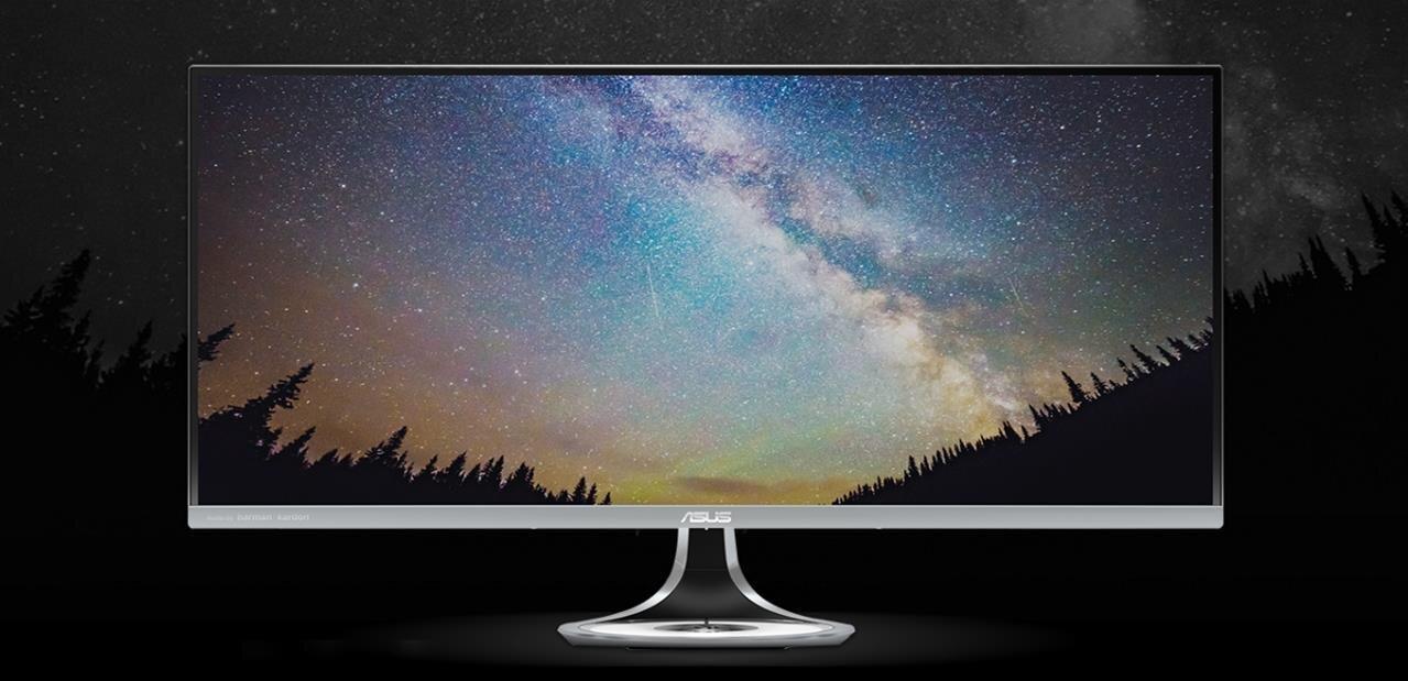 Deux écrans chez ASUS : le Swift PG258Q à 240 Hz, le MX34VQ avec une dalle incurvée