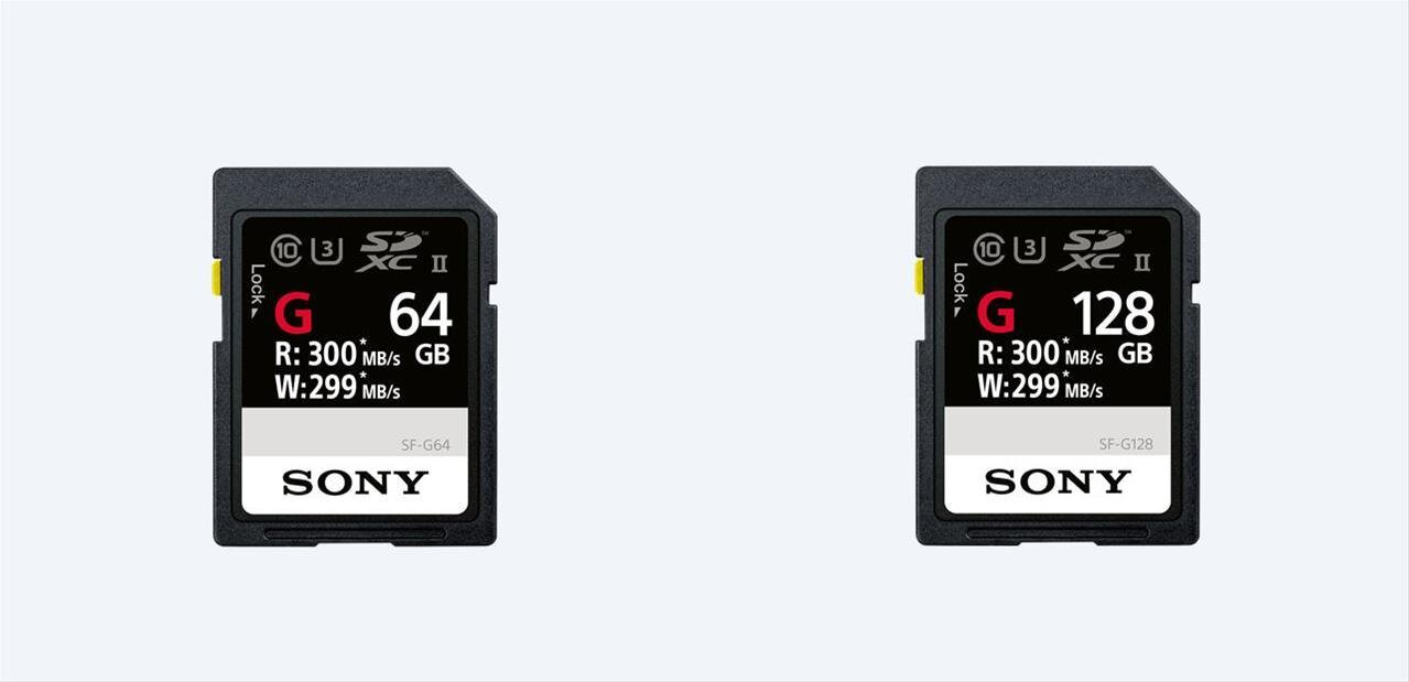SF-G de Sony : les cartes SD les « plus rapides au monde », avec 299 Mo/s en écriture